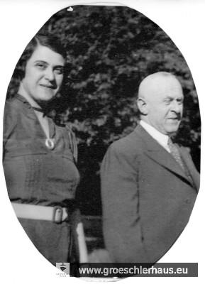 Hermann (1880 – 1944 KZ Bergen-Belsen) und Änne Gröschler ( 1888 – 1983 Groningen, Holocaust-Überlebende) konnten ihre Kinder aus Deutschland herausbringen.