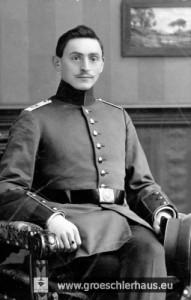 Alfred Schwabe (1889 Jever – deportiert 1942 von Dortmund nach Riga), Foto als Soldat im Ersten Weltkrieg ca. 1916
