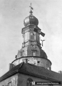 Der Schlossturm von Jever während der Festwoche von 1936 (Archiv H. Peters)
