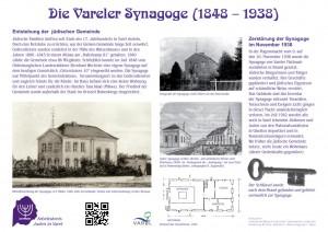 Die im November 2014 errichtete Informationstafel zur Vareler Synagoge
