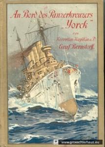 Einbandbild der 1910 erschienenen Erzählung von Hans Nikolaus von Bernstorff  (nach einem Aquarell des Marinemalers Willy Stöwer)