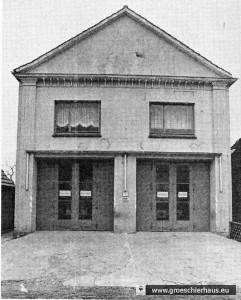 Die von der Niederbrennung 1938 verschont gebliebene Synagoge als Feuerwehrgarage (Foto Franke, 1986)