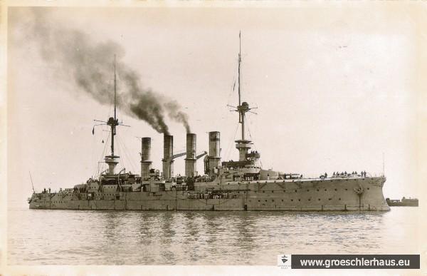 Bild 1: Der 1905 in Dienst gestellte Panzerkreuzer 'Yorck' (Deutsches Marinemuseum, Wilhelmshaven)