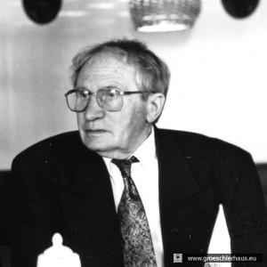 Helmut Popken, 1945 Oberleutnant der Stadtkompanie (Foto von 1995, H. Peters)