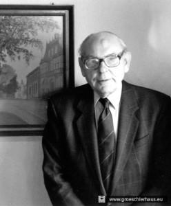 """Dr. Christel Matthias Schröder galt als einer der """"Rädelsführer"""" des Volksauflaufs vom 3. Mai 1945 (Foto von 1995, H. Peters)"""