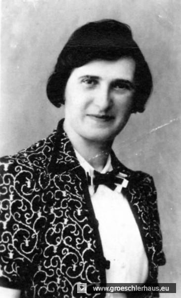 Änne Gröschler auf einer Aufnahme von ca. 1930 (Archiv H. Peters)