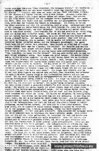 """Die erste Seite des 39seitigen Typoskripts der Erinnerungen von Änne Gröschler """"Aus diese schweren Zeit"""" (Archiv H. Peters)"""