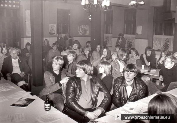 Fritz Levy während einer Versammlung des Rates des Jugendzentrums im Jahre 1980. Foto H. Burlager