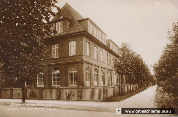Das zweite Schulgebäude der Frl.-Marien-Schule an der Ecke Kirchreihe / Rosenstraße (Stadtarchiv Wilhelmshaven)
