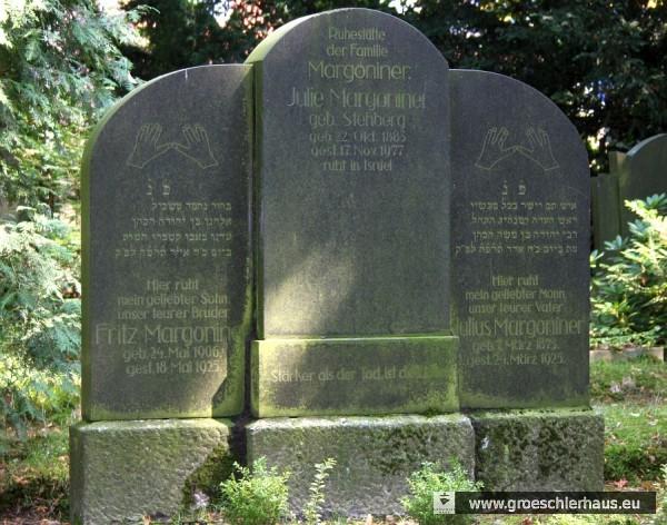 Familiengrab Margoniner (Foto M. Schmid, 2011)
