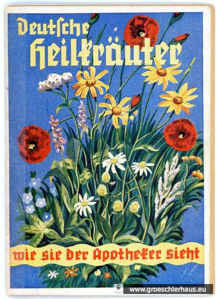 """Umschlagstitel der Schrift """"Deutsche Heilkräuter"""" von 1936, als deren Autor die Deutsche Nationalbibliothek Ulrich Mamlok ansetzt. Archiv Gröschlerhaus"""