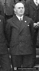 """Bürgermeister Martin Folkerts (1902 – ca. 1974) war wichtiger Gegenspieler der Juden Jevers. Bereits 1929 in die NSDAP eingetreten, galt er als """"alter Kämpfer"""". Bis zu seinem Tod war er der Vorsitzende des Jeverländischen Altertums- und Heimatvereins. (Archiv H. Peters)"""