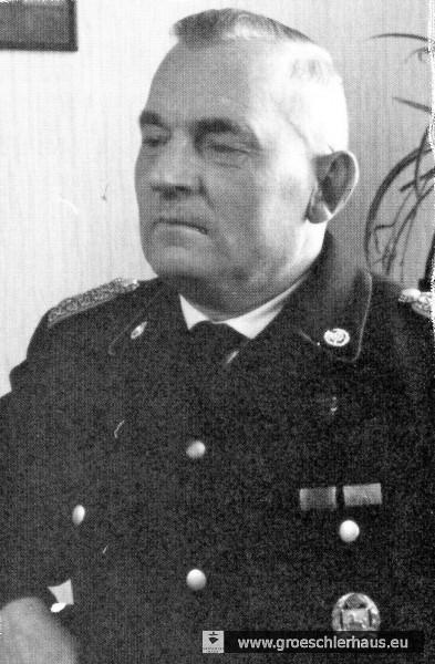 Richard Borchers, Kreisfeuerwehrführer und Stadtbrandmeister von Jever von 1937 bis 1944 (Foto aus der Nachkriegszeit, Fr. Feuerwehr Jever)