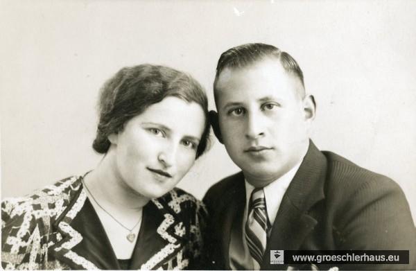 Arthur Solmitz (1914 - 1966) und seine Ehefrau Jenny geb. Kahn (1912 - 1944 Auschwitz) ca. 1939 in Amsterdam (Archiv H. Peters)