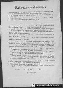 Rückseite des Auktionsauftrages. NLA OL, Bestand 231-3, Nr. 588.